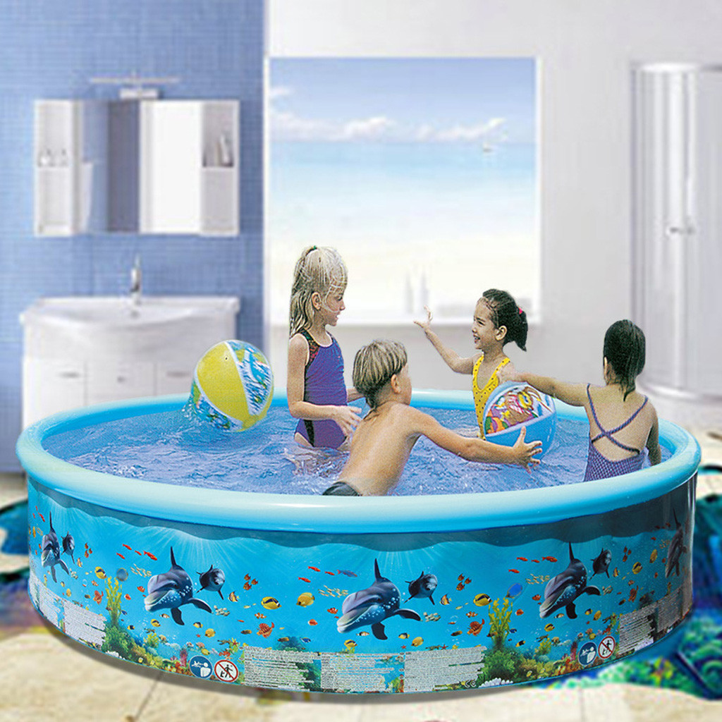 61inches Inflatable Swimming Pool Blow Up Pool For Family ...